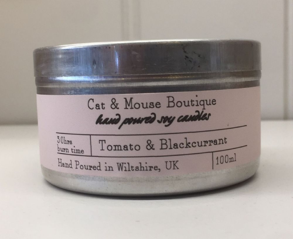 Candle Tin - Tomato & Blackcurrant